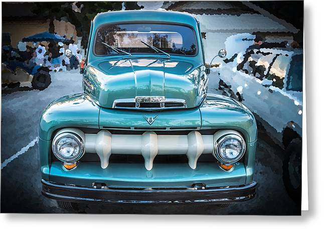 1951 Greeting Cards - 1951 Ford F1 Pickup Truck Greeting Card by Rich Franco