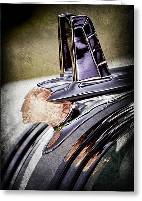 1953 Pontiac Greeting Cards - 1953 Pontiac Hood Ornament Greeting Card by Jill Reger