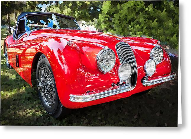 Gran Jaguar Greeting Cards - 1954 Jaguar XK 120 SE OTS  Greeting Card by Rich Franco