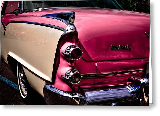Radiator Badge Greeting Cards - 1955 Dodge Royal Lancer Sedan Greeting Card by David Patterson