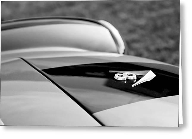 1955 Fiat 8v Zagato Hood Emblem Greeting Card by Jill Reger