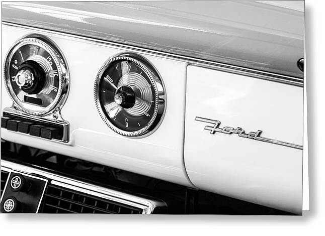 1955 Greeting Cards - 1955 Ford Crown Victoria Fordomatic Emblem Greeting Card by Jill Reger