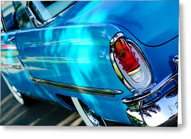 1955 Greeting Cards - 1955 Mercury Monterey Taillight Greeting Card by Jill Reger