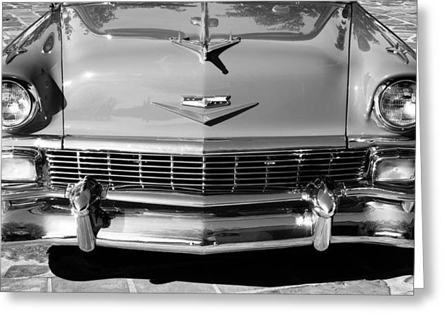 Custom Grill Greeting Cards - 1956 Chevrolet Belair Convertible Custom V8 Greeting Card by Jill Reger