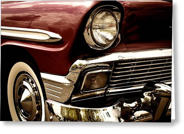 1956 Chevy Bel Air Greeting Card by David Patterson