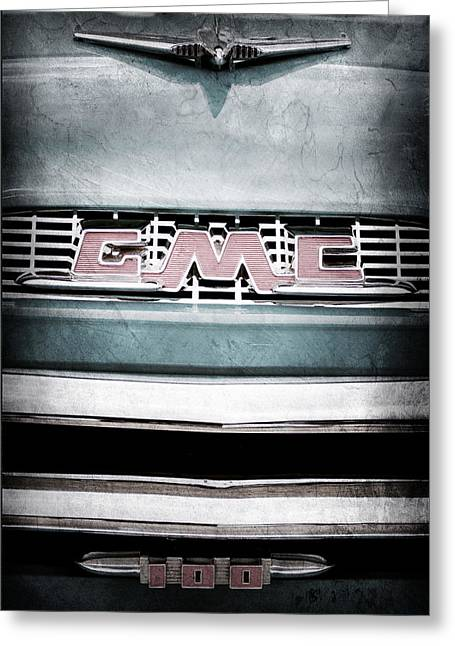 Classic Pickup Greeting Cards - 1956 GMC 100 Deluxe Edition Pickup Truck Greeting Card by Jill Reger