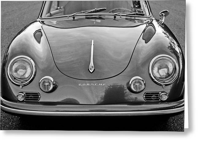 Black And White Photos Greeting Cards - 1957 Porsche 1600 Super Greeting Card by Jill Reger