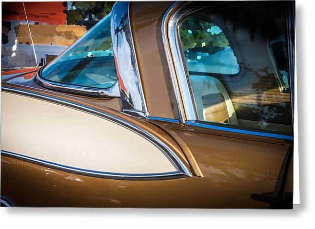 Rally Greeting Cards - 1957 Studebaker Golden Hawk  Greeting Card by Rich Franco