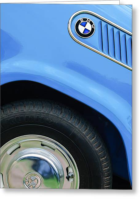 Limousine Greeting Cards - 1959 BMW Isetta 600 Limousine Emblem Greeting Card by Jill Reger