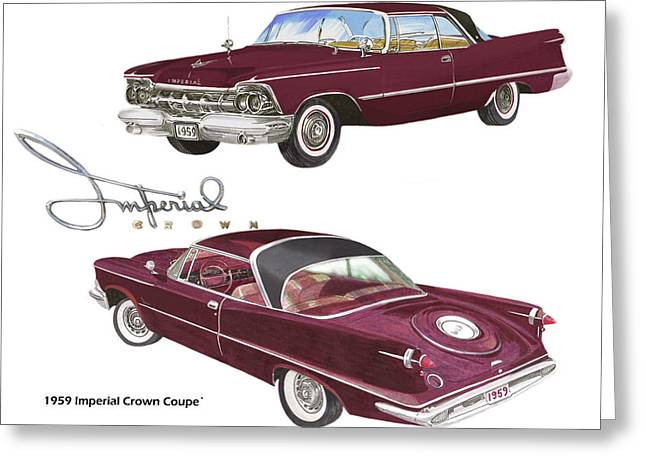 1959 Imperial Crown Coupe Greeting Card by Jack Pumphrey