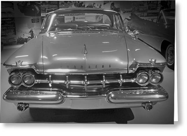 Clown Black And White. Greeting Cards - 1959 Imperial Crown Sedan Greeting Card by Mountain Dreams