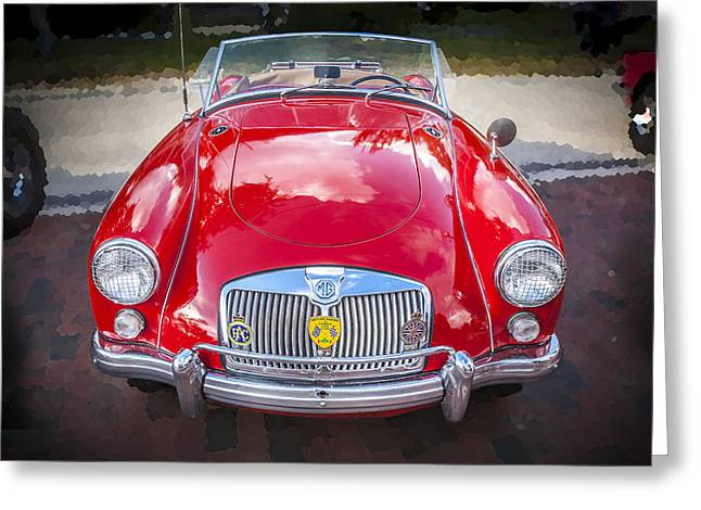 English Car Greeting Cards - 1960 MGA 1600 Convertible Greeting Card by Rich Franco