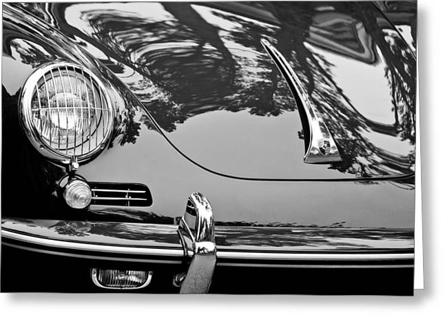 1963 Greeting Cards - 1963 Porsche 356 B Cabriolet Hood Emblem Greeting Card by Jill Reger