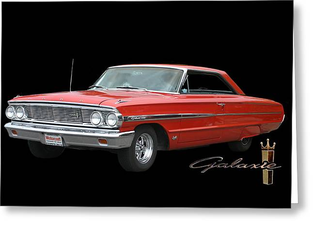 Most Photographs Greeting Cards - 1964 Ford Galaxie 500 Greeting Card by Jack Pumphrey