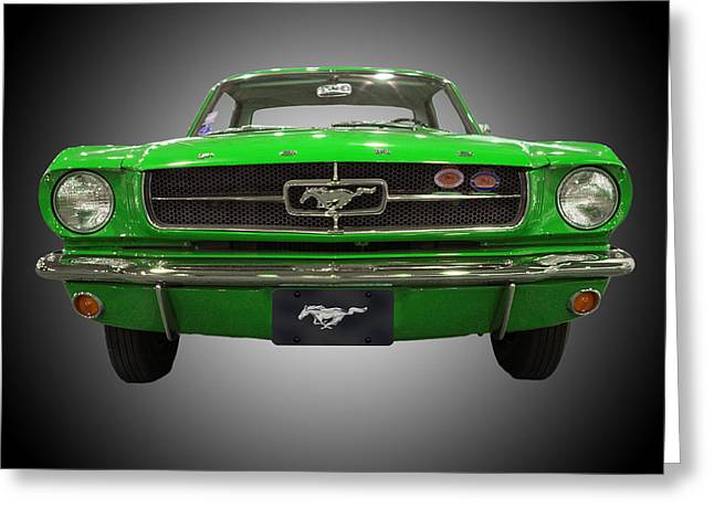 1964 Ford Emblems Greeting Cards - 1964 Ford Mustang Greeting Card by Michael Porchik
