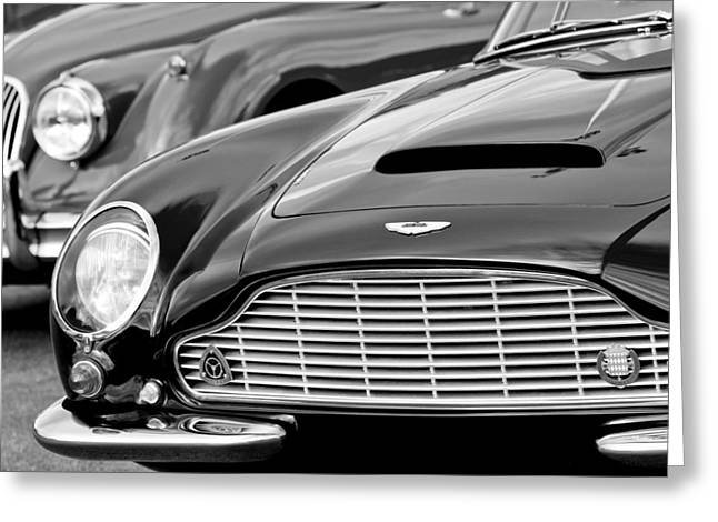 Shorts Greeting Cards - 1965 Aston Martin DB6 Short Chassis Volante Greeting Card by Jill Reger