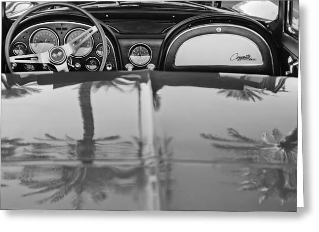 Stinging Greeting Cards - 1965 Chevrolet Corvette Sting Ray Greeting Card by Jill Reger