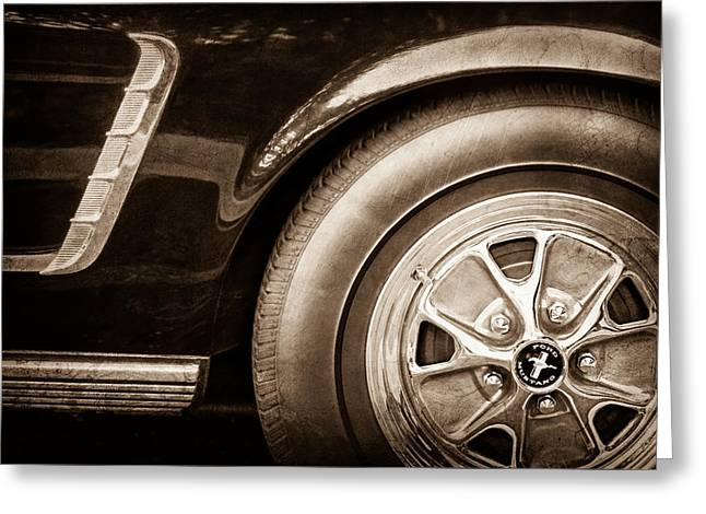 1965 Mustang Greeting Cards - 1965 Shelby prototype Ford Mustang Wheel Greeting Card by Jill Reger