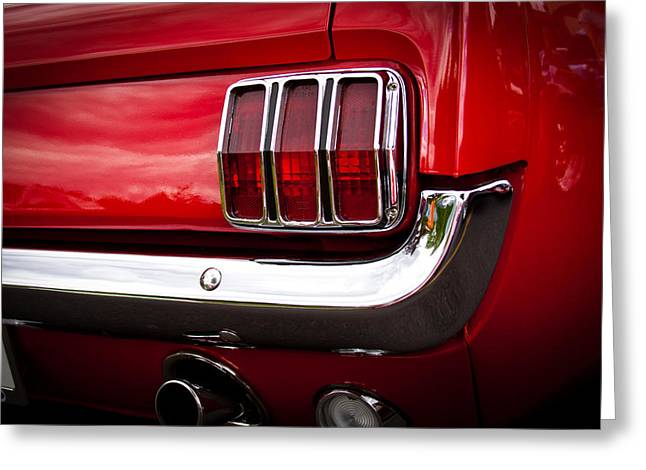 Vintage Models Greeting Cards - 1966 Ford Mustang Greeting Card by David Patterson