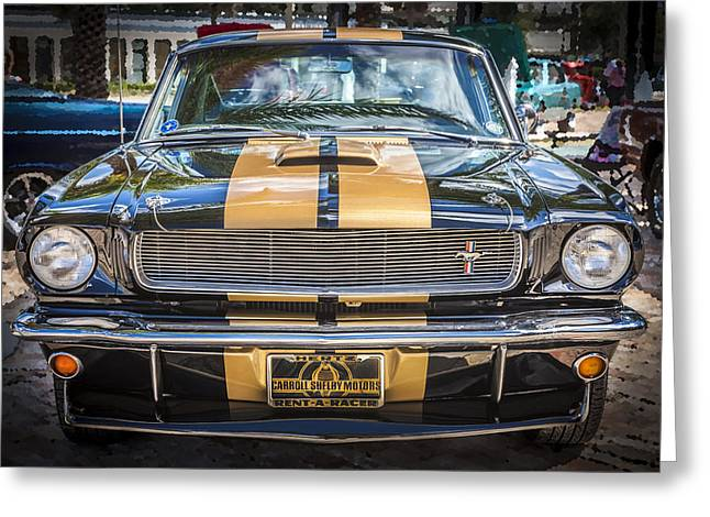 1966 Ford Shelby Mustang Hertz Edition  Greeting Card by Rich Franco