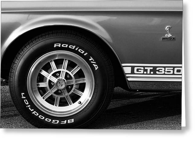 Autographed Art Digital Art Greeting Cards - 1968 G.T. 350 Shelby Cobra Ford Mustang Greeting Card by Gordon Dean II