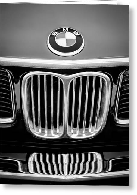 Cs Greeting Cards - 1969 BMW 2800 CS E-9 Series Emblem Greeting Card by Jill Reger