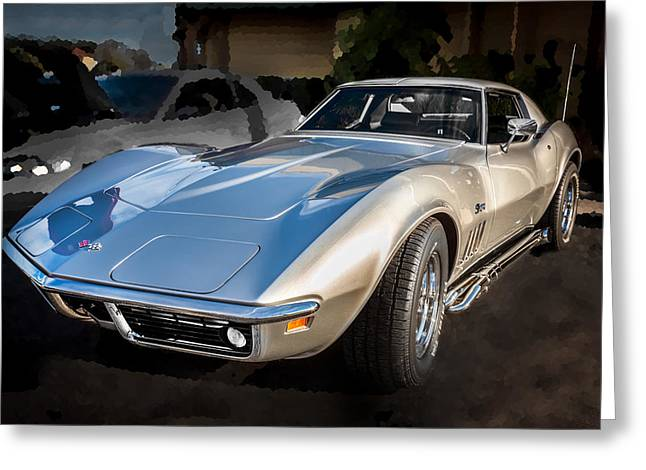 Custom Grill Greeting Cards - 1969 Chevrolet Corvette 427 Greeting Card by Rich Franco