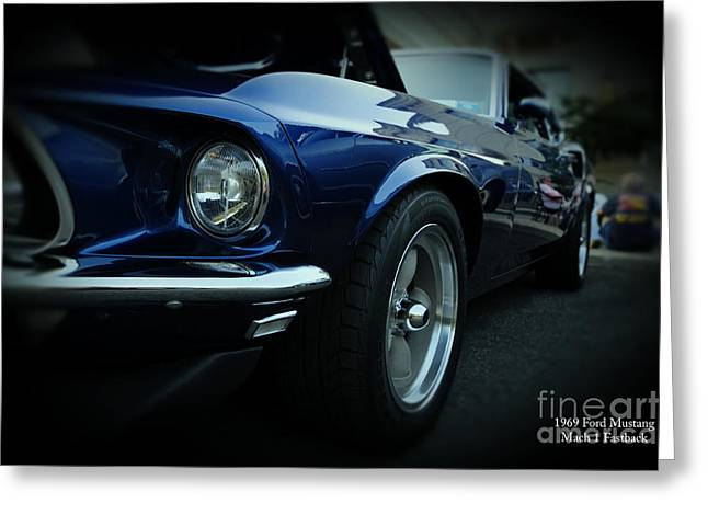 1969 Ford Mustang Mach 1 Fastback Greeting Card by Paul Ward