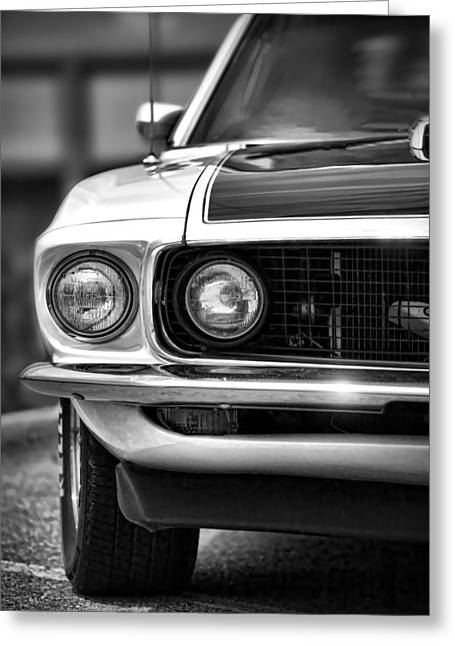 Carroll Shelby Greeting Cards - 1969 Ford Mustang Mach 1 Greeting Card by Gordon Dean II
