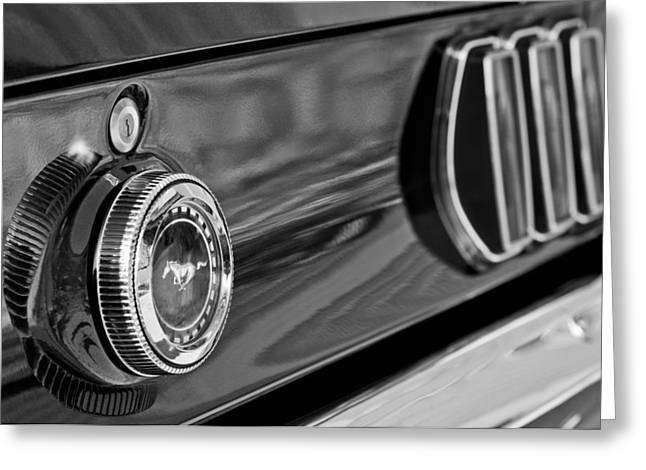 Mustang Greeting Cards - 1969 Ford Mustang Taillights Greeting Card by Jill Reger