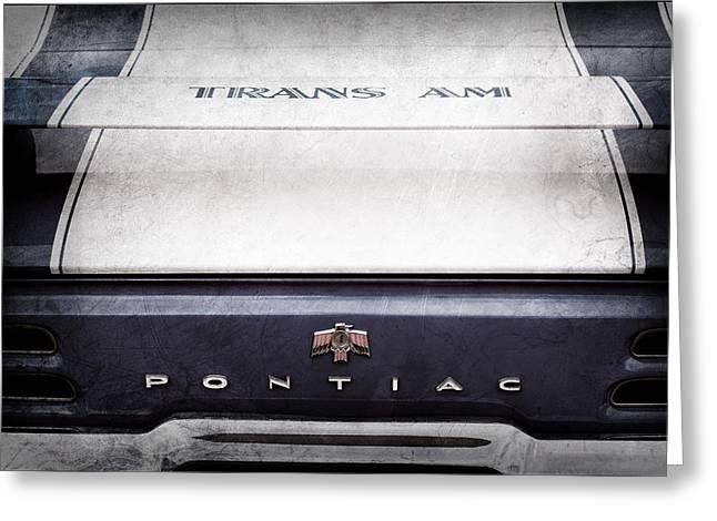 1969 Pontiac Trans Am Tail Fin Emblem Greeting Card by Jill Reger