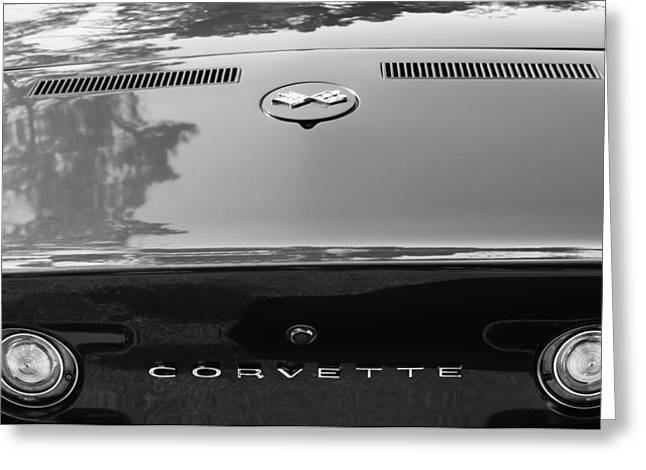Lt Greeting Cards - 1970 Chevrolet Corvette LT-1 Convertible Taillight Emblem Greeting Card by Jill Reger