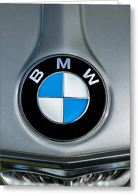 Famous Photographer Greeting Cards - 1972 BMW 2000 Tii Touring Taillight Emblem Greeting Card by Jill Reger