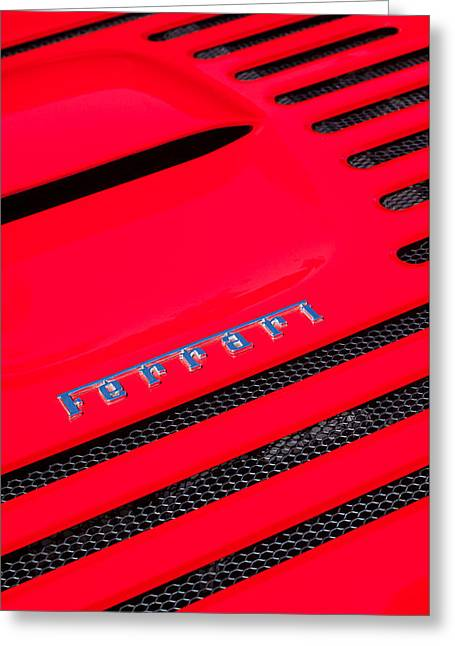 1997 Ferrari F-355 Spider Greeting Cards - 1997 Ferrari F-355 Spider Emblem Greeting Card by Jill Reger