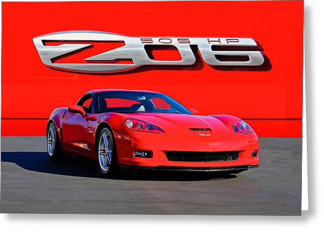 High-performance Luxury Car Greeting Cards - 2006 Corvette Z06 427 Greeting Card by Dave Koontz