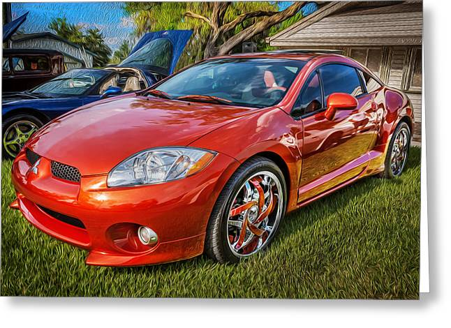 Special Edition Greeting Cards - 2006 Mitsubishi Eclipse GT V6 Painted Greeting Card by Rich Franco