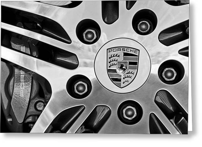 Cabriolet Greeting Cards - 2008 Porsche Turbo Cabriolet Wheel Rim Greeting Card by Jill Reger