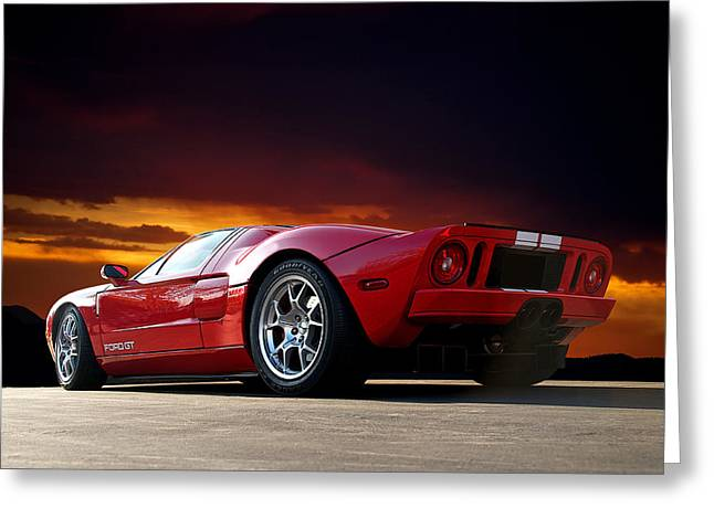 Rally Greeting Cards - 2011 Ford GT III Greeting Card by Dave Koontz