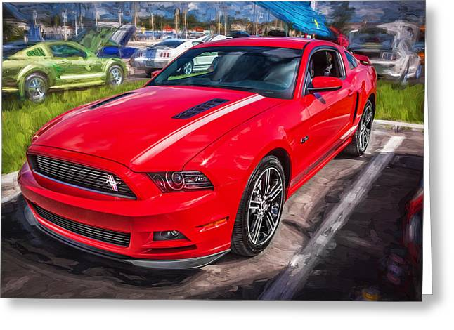 Cs Greeting Cards - 2013 Ford Mustang GT CS Painted  Greeting Card by Rich Franco