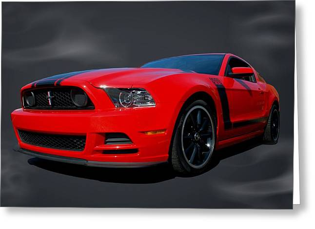 Teemack Greeting Cards - 2013 Mustang Boss 302 Greeting Card by Tim McCullough