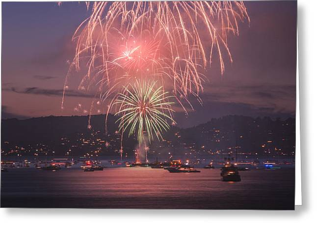 2014 4th of July Firework Celebration.  Greeting Card by Jason  Choy