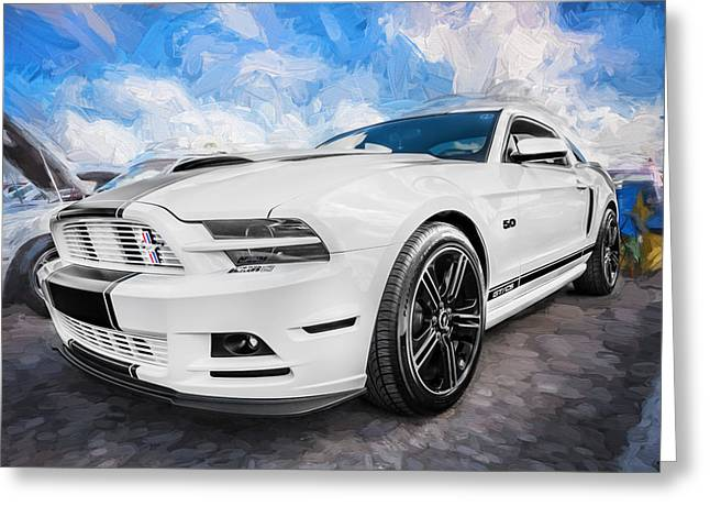 Cs Greeting Cards - 2014 Ford Mustang GT CS Painted  Greeting Card by Rich Franco