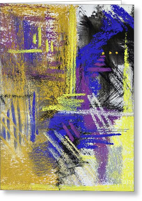 Contemporary Abstract Pastels Greeting Cards - Dark Shadows Greeting Card by Tracy L Teeter