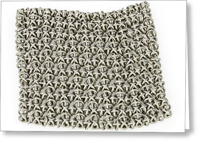 Intricate Cuts Greeting Cards - 3D printed chain mail Greeting Card by Science Photo Library