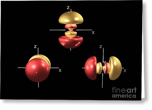4p Electron Orbitals Greeting Card by Dr. Mark J. Winter