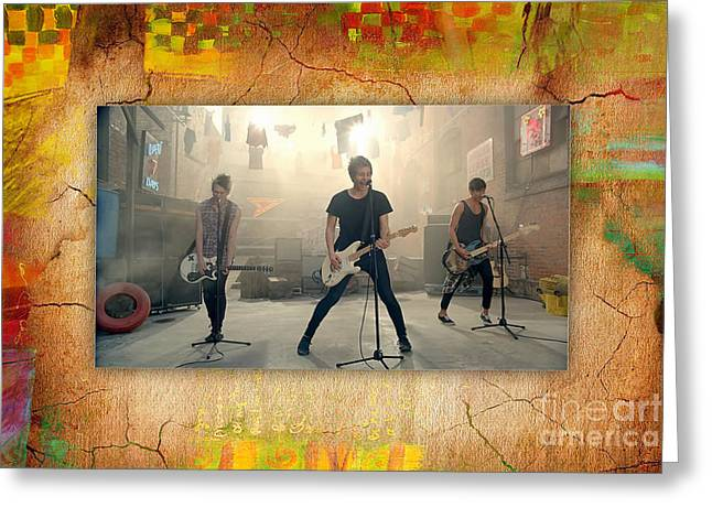 Band Greeting Cards - 5 Seconds Of Summer  Greeting Card by Marvin Blaine