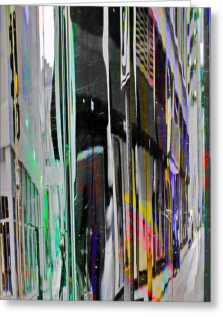 Distortion Greeting Cards - 6th and Locust Greeting Card by KM Corcoran