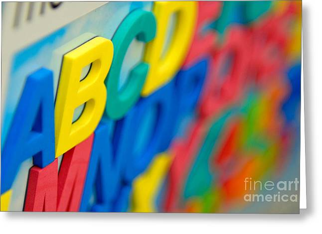 Abc Greeting Cards - A B C D E F G Greeting Card by Amy Cicconi