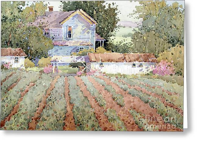 Joyce Hicks Greeting Cards - A Farmhouse I Saw in Virginia Greeting Card by Joyce Hicks