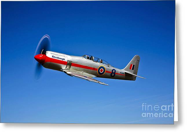 Dreadnought Greeting Cards - A Hawker Sea Fury T.mk.20 Dreadnought Greeting Card by Scott Germain